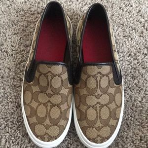 """Coach """"Chrissy"""" Slip On Sneakers"""
